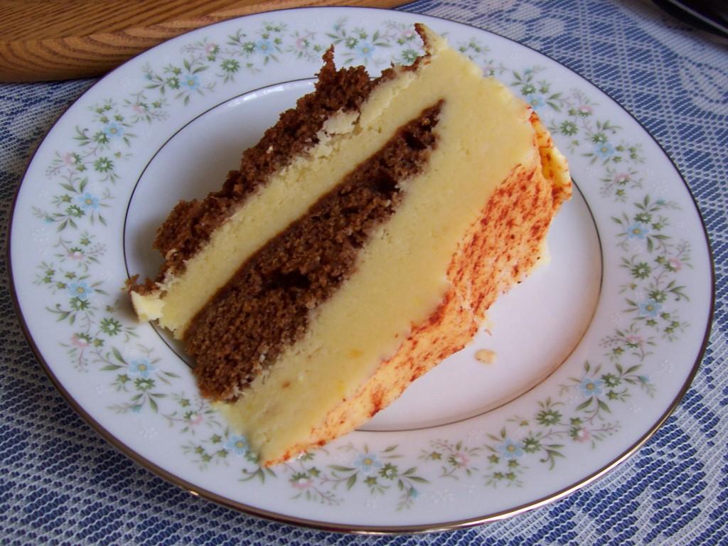 Ginger-Mango Frozen Yogurt Cake | Kellie's Belly
